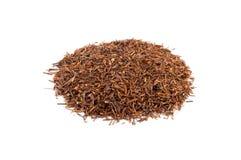 Heap of rooibos tea. Bio rooibos classic tea isolated on white Stock Photos