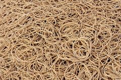 Heap of rubber bands, close-up, full format. royalty free stock photography