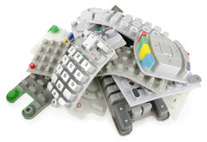 Heap of rubber keypads Royalty Free Stock Photos