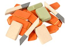 Heap of rubbers Royalty Free Stock Photo