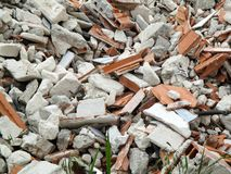Heap of rubble royalty free stock image