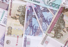 Heap of ruble banknotes Royalty Free Stock Photo