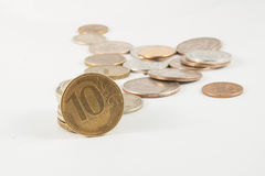 A heap of russian coins Royalty Free Stock Image
