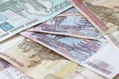 Heap of Russian Federation banknotes Royalty Free Stock Images