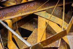 Heap of rusty metal-scrap Royalty Free Stock Photo
