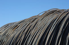Heap of rusty steel wire for building. Close up Royalty Free Stock Photos