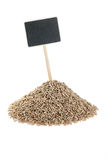 Heap of  rye  with a pointer for your text Stock Image