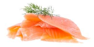 Heap of Salmon on white Royalty Free Stock Photo
