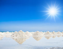 Heap of salt in the farm Royalty Free Stock Photo