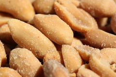 Heap of salted peanuts Stock Images