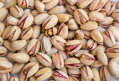 Heap of Salted Pistachios Isolated Stock Photo
