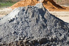 Heap of sand and earth Royalty Free Stock Photography