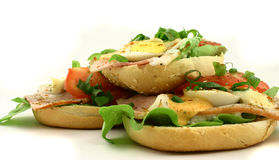 Heap of sandwiches. Sandwiches lying one at the top of another Royalty Free Stock Photography