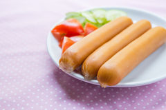 Heap of sausages Royalty Free Stock Photos