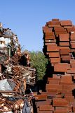 Heap of scrap metal stored for recycling. France Stock Photo