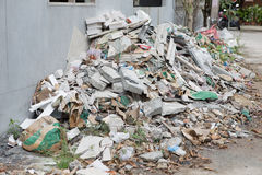 Heap of scrap or wasted from home building Royalty Free Stock Image