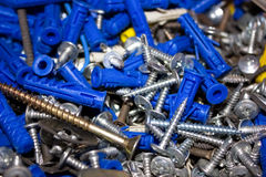 Heap of screws Royalty Free Stock Photography