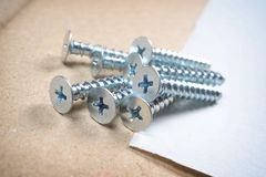 Heap of screws Stock Photo