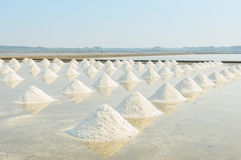Heap of sea salt Royalty Free Stock Photo