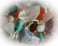Heap of semi-precious stones Royalty Free Stock Photography