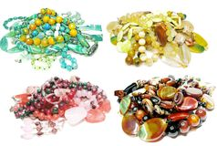 Heap of semigem beads jewellery Stock Photos
