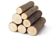Heap of several logs Royalty Free Stock Photos
