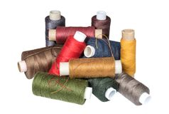 Heap of sewing threads coils Stock Photography