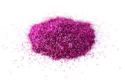 Heap of shiny purple glitter for makeup Stock Images