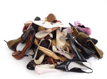 Heap of shoes Royalty Free Stock Photos