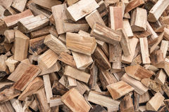 Heap with short logs Royalty Free Stock Photo