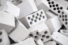 Heap of silicate bricks Royalty Free Stock Photos