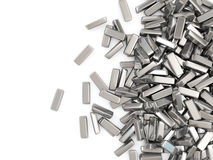 Heap of Silver Bars Royalty Free Stock Images