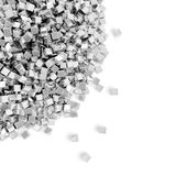 Heap of silver cubes Stock Images