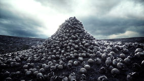 Heap of skulls. Apocalypse and hell concept. 3d rendering. Royalty Free Stock Image