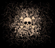 Heap of skulls and bones Stock Image