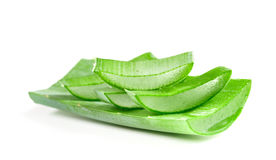 Heap sliced aloe leaves Stock Photos