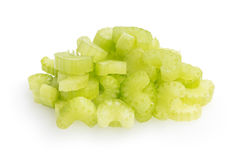 Heap of sliced celery royalty free stock image