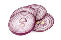 Heap of sliced onion isolated on white Royalty Free Stock Images