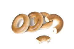 Heap of small bagels Royalty Free Stock Images