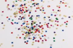 Decoration stars in the white studio royalty free stock photo