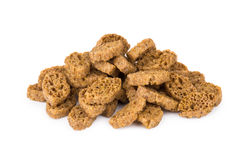 Heap of small rusks with salt, black bread Stock Photography