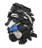 Heap of socks. Heap of unsorted socks  over white Stock Photos