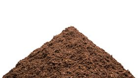 Heap of the soil. Isolated Stock Photography
