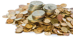 Heap of Soviet Union coins Royalty Free Stock Image