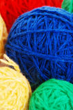 Heap from spheres of a wool Stock Photo