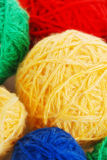 Heap from spheres of a wool Royalty Free Stock Photo