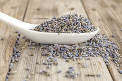 Heap spoon of dried lavender Stock Image