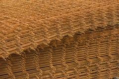 Heap of steel reinforcement bars background Stock Image