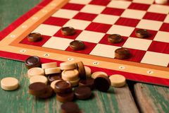 Heap of stones for Game of checkers Stock Images