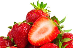 Heap of strawberries Stock Images